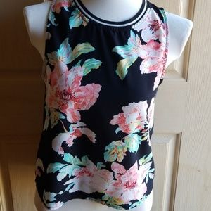 Elodie anthropologie womens floral tank top small